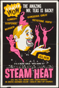 "Movie Posters:Sexploitation, Steam Heat (William Mishkin Motion Pictures Inc., 1963). SilkScreened One Sheet (28"" X 42""). Sexploitation.. ..."