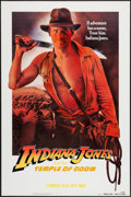 "Movie Posters:Adventure, Indiana Jones and the Temple of Doom (Paramount, 1984). One Sheet(27"" X 41"") Advance - White Background Style. Adventure.. ..."