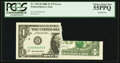 Error Notes:Printed Tears, Fr. 1933-H $1 2006 Federal Reserve Note. PCGS Choice About New55PPQ.. ...