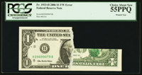 Fr. 1933-H $1 2006 Federal Reserve Note. PCGS Choice About New 55PPQ