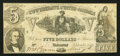 Confederate Notes:1861 Issues, T37 $5 1861 PF-2 Cr. 285.. ...