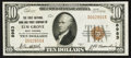 National Bank Notes:West Virginia, Elm Grove, WV - $10 1929 Ty. 1 The First NB & TC Ch. # 8983. ...