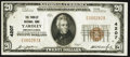 National Bank Notes:Pennsylvania, Yardley, PA - $20 1929 Ty. 1 The Yardley NB Ch. # 4207. ...