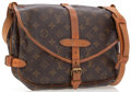 Luxury Accessories:Accessories, Louis Vuitton Classic Monogram Canvas Saumur PM Messenger Bag. ...