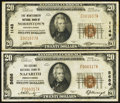 National Bank Notes:Pennsylvania, Nazareth, PA - $20 1929 Ty. 1 The Second NB Ch. # 5686;. Norristown, PA - $20 1929 Ty. 1 The Montgomery NB Ch. ... (Total: 2 notes)