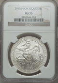 Modern Issues, (2)2010-P Boy Scouts MS70 NGC. Census: 5519 in 70 (6/13)....(Total: 2 coins)
