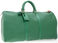 Luxury Accessories:Travel/Trunks, Louis Vuitton Green Epi Leather 50cm Weekender Overnight Bag. ...