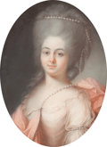 Decorative Arts, Continental, A FRAMED PASTEL PORTRAIT OF A LADY IN 18TH CENTURY ATTIRE. 19thcentury. 31-1/2 inches x 24-1/4 inches (80.0 x 61.6 cm) (fr...