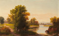 Fine Art - Painting, American:Other , AMERICAN SCHOOL (Late 19th/Early 20th Century). Afternoon at thePark. Oil on canvas. 14 x 22 inches (35.6 x 55.9 cm). ...