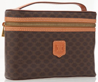 Celine Brown Monogram Canvas Cosmetic Bag