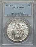 Morgan Dollars: , 1883-O $1 MS65 PCGS. PCGS Population (7282/737). NGC Census:(9686/1017). Mintage: 8,725,000. Numismedia Wsl. Price for pro...