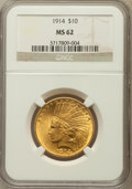 Indian Eagles: , 1914 $10 MS62 NGC. NGC Census: (719/469). PCGS Population(679/576). Mintage: 151,050. Numismedia Wsl. Price for problemfr...