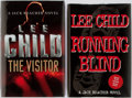 Books:Signed Editions, Lee Child. Group of Two. Running Blind. New York: G. P. Putnam's Sons, 2000. [And]. The Visitor. London: Bantam Pr... (Total: 2 Items)