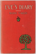 Books:Literature 1900-up, Mark Twain. Lester Ralph. Illustrator. Eve's Diary. Harper & Brothers, 1906. Contemporary red pictorial cloth. Pro...
