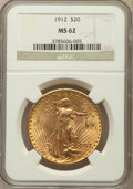 Saint-Gaudens Double Eagles: , 1912 $20 MS62 NGC. NGC Census: (941/551). PCGS Population(1054/1558). Mintage: 149,700. Numismedia Wsl. Price for problem...