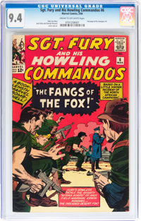 Sgt. Fury and His Howling Commandos #6 (Marvel, 1964) CGC NM 9.4 Cream to off-white pages