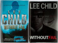 Books:Mystery & Detective Fiction, Lee Child. SIGNED. Without Fail. Group of Two Books Includesthe American and British First Edition, First Printin... (Total: 2Items)