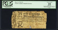 Colonial Notes:North Carolina, North Carolina March 9, 1754 15s PCGS Apparent Very Good 10.. ...