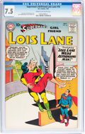 Silver Age (1956-1969):Superhero, Superman's Girlfriend Lois Lane #18 (DC, 1960) CGC VF- 7.5 Cream to off-white pages....