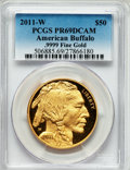 Modern Bullion Coins, 2011-W $50 One-Ounce Gold American Buffalo PR69 Deep Cameo PCGS..9999 Fine Gold. PCGS Population (659/437). NGC Census: (...