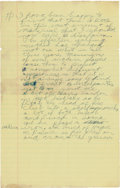 Golf Collectibles:Autographs, Circa 1970 Bobby Jones Handwritten Page with Fantastic GolfContent....