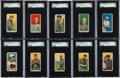 Baseball Cards:Lots, 1909-11 T206 White Borders Collection (221) With Many HoFers andAll Four Ty Cobb Cards! ...