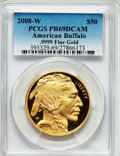 Modern Bullion Coins, 2008-W G$50 One-Ounce Gold American Buffalo PR69 Deep Cameo PCGS..9999 Fine Gold. PCGS Population (435/422). NGC Census: ...