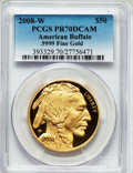 Modern Bullion Coins, 2008-W G$50 One-Ounce Gold American Buffalo PR70 Deep Cameo PCGS..9999 Fine Gold. PCGS Population (422). NGC Census: (153...