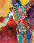American:Modern, HARRY W. COATE (American, 20th Century). Abstract Woman. Oilon canvas board. 22-1/2 x 18-1/2 inches (57.2 x 47.0 cm). S...