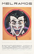 Prints, MEL RAMOS (American, b. 1935). The Joker. Offset lithograph. 31-1/2 x 19-1/2 inches (80.0 x 49.5 cm) (sight). Signed low...