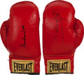 Boxing Collectibles:Autographs, 1990's Muhammad Ali & Joe Frazier Boxing Gloves. ...