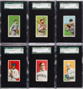 Baseball Cards:Lots, 1909-11 T206 White Borders SGC Graded Collection (6). ...