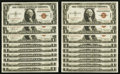 Small Size:World War II Emergency Notes, Fr. 2300 $1 1935A Hawaii Silver Certificates. Eighteen Consecutive Examples. Very Choice Crisp Uncirculated.. ... (Total: 18 notes)