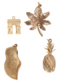 Estate Jewelry:Pendants and Lockets, Gold Charm/Pendant Lot. ... (Total: 4 Items)