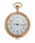 Timepieces:Pocket (post 1900), Waltham 14k Gold Open Face Pocket Watch. ...