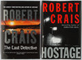 Books:Mystery & Detective Fiction, Robert Crais. SIGNED. Group of Two Signed Books Includes Hostage and The Last Detective. Doubleday/Orion... (Total: 2 Items)