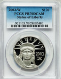 Modern Bullion Coins, 2003-W P$100 One-Ounce Platinum Statue of Liberty PR70 Deep CameoPCGS. PCGS Population (102). NGC Census: (292). Numismed...