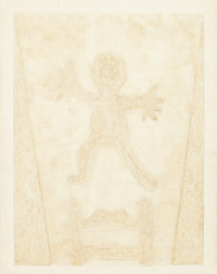 RUFINO TAMAYO (Mexican, 1899-1991) Niño Saltando, 1982 Mixograph in colors on handmade paper 31 x