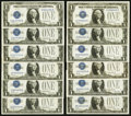 Small Size:Silver Certificates, Fr. 1601 $1 1928A Silver Certificates. Nine Examples. Fr. 1602 $1 1928B Silver Certificates. Three Examples. . ... (Total: 12 notes)