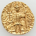 Ancients:Oriental, Ancients: INDIA. Kushan Empire. Vasudeva II (ca. 290-310). AV dinar (7.90 gm)....