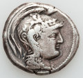 Ancients:Greek, Ancients: ATTICA. Athens. Ca. 165-42 BC. AR tetradrachm (16.92gm)....