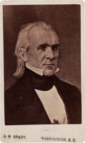 Photography:CDVs, James K. Polk Carte de Visite, circa 1860....