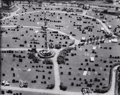 Photographs, BERENICE ABBOTT (American, 1898-1991). Cemetery, Aerial View. Gelatin silver, printed later. 15-1/4 x 19-1/4 inches (38....