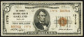 National Bank Notes:Maryland, Oakland, MD - $5 1929 Ty. 2 The Garrett NB Ch. # 13776. ...