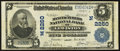 National Bank Notes:Maine, Lewiston, ME - $5 1902 Plain Back Fr. 605 The Manufacturers NB Ch.# (N)2260. ...