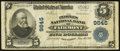 National Bank Notes:West Virginia, Fairmont, WV - $5 1902 Plain Back Fr. 601 The Peoples NB Ch. # 9645. ...