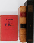 Books:Americana & American History, [J. Edgar Hoover]. John J. Floherty. SIGNED. Inside theF.B.I. J.B. Lippincott Co., 1943. Signed by the author on ...(Total: 3 Items)
