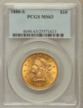 Liberty Eagles: , 1880-S $10 MS63 PCGS. PCGS Population (45/6). NGC Census: (35/3).Mintage: 506,250. Numismedia Wsl. Price for problem free ...