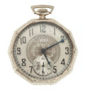 Timepieces:Pocket (post 1900), Elgin 14k Gold 17 Jewel Pocket Watch. ...