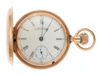 Waltham 14k Gold 18 Size Hunter's Case Pocket Watch